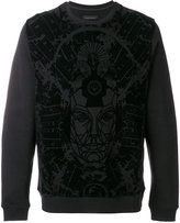 Frankie Morello velvet print sweatshirt