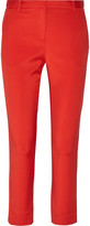 Tibi Cropped stretch-faille tapered pants