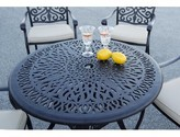 """Burlingame Metal Dining Table Canora Grey Color: Antique Bronze, Table Height: 29"""""""