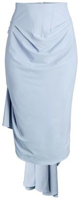 A.W.A.K.E. Mode Bustled Drape Pencil Skirt