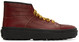 Vans Red Taka Hayashi Edition Sk8-Boot LX Sneakers