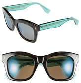 Fendi Women's 50Mm Retro Sunglasses - Black