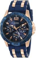GUESS GUESS? Men's U0366G4 Iconic Blue Multi-Function Stainless Steel Sport Watch