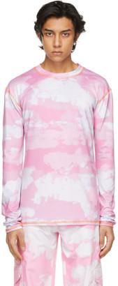 Phlemuns Pink Print Long Sleeve T-Shirt