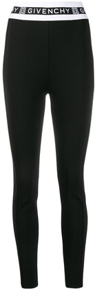 Givenchy Lettering Logo Border Leggings