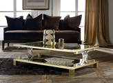 The Well Appointed House Modern History Midtown Cocktail Table with Brass AccentS - CURRENTLY ON BACKORDER -