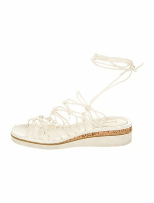 Chloé Leather Gladiator Sandals White