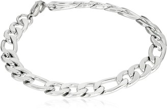 Crucible Jewelry Mens Stainless Steel Figaro Chain Bracelet 8.25-Inch
