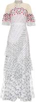 Peter Pilotto Crochet-trimmed silk-georgette dress