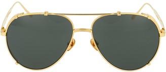 Linda Farrow Newman Aviator Sunglasses