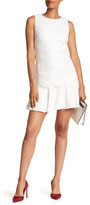 Tahari Crochet Overlay Dress