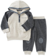 Calvin Klein 2-Pc. Marled Hoodie & Jogger Pants Set, Baby Boys (0-24 months)
