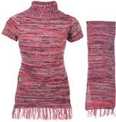 "Dollhouse Little Girls' ""Grayson"" Sweater Dress with Scarf"
