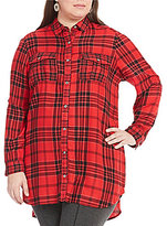 Intro Plus Plaid Tunic