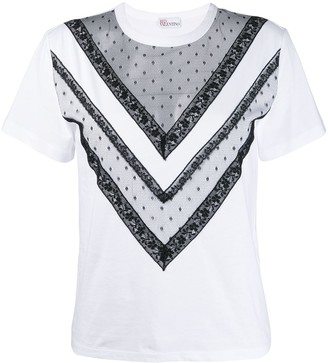 RED Valentino see-through detail T-shirt
