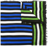 Faliero Sarti frayed striped scarf - women - Silk/Modal - One Size