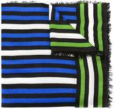 Faliero Sarti frayed striped scarf