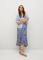 Thumbnail for your product : MANGO Printed skirt with ruffles