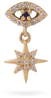 Ileana Makri Eye Star 18kt Gold, Sapphire And Diamond Earring - Gold