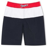 Petit Bateau Boys tricolour swim shorts