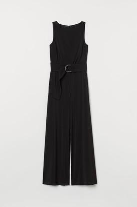 H&M Jumpsuit with Belt - Black