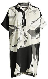 Natori Women's Petal-Print Shirt Dress