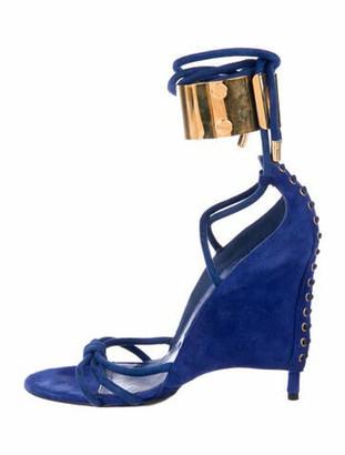 Tom Ford Suede Gladiator Sandals Blue