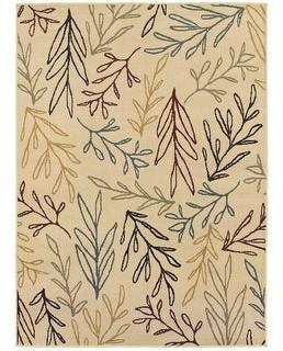 StyleHaven Stratton Line Drawn Leaf Area Rug