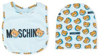MOSCHINO BAMBINO Teddy Bear logo-print bib set