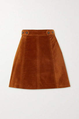 Vanessa Bruno - Panpi Cotton-blend Corduroy Mini Skirt - Brown