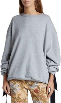 Dries Van Noten Tie-Sleeve Oversized Sweatshirt