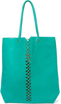 Jerome Dreyfuss Dario cutout eyelet-embellished leather tote