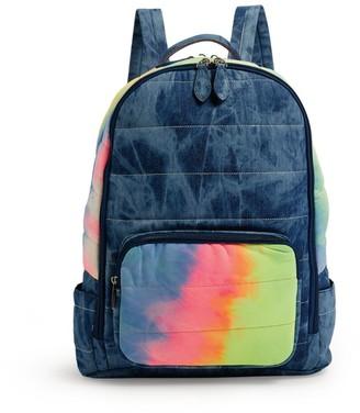 Bari Lynn Tie-Dye Denim Backpack