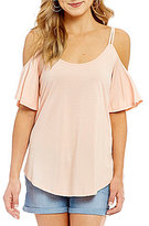 Jessica Simpson Carline Cold Shoulder Knit Top