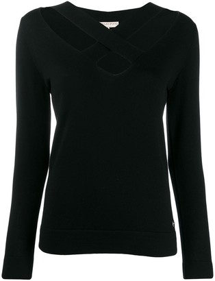 Emilio Pucci Crossover Front Detail Jumper