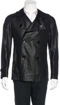 Ungaro Linen Double-Breasted Peacoat