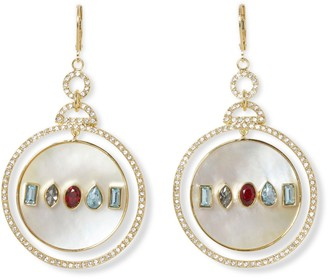 Vince Camuto Jeweled Shell Earrings