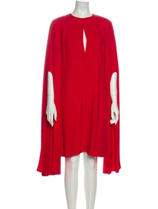 Narciso Rodriguez Crew Neck Knee-Length Dress w/ Tags Red