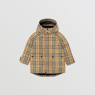 Burberry Childrens Vintage Check Down-filled Hooded Coat