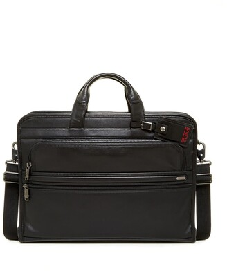 Tumi Alpha Slim Large Screen Computer Portfolio Leather Briefcase