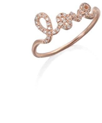 Sydney Evan Diamond & 14K Rose Gold Love Ring