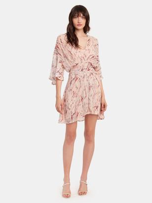 IRO Pommie Ruffle Silk Chiffon Mini Dress