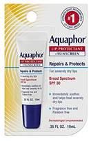 Aquaphor Lip Repair + Protect UVA/UVB, SPF 30, 0.35 Ounce (Pack of 6)