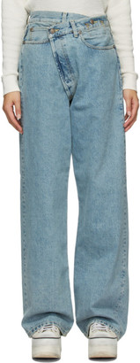 R 13 Blue Cross Over Jeans
