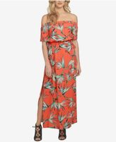 1 STATE 1.STATE Printed Off-The-Shoulder Maxi Dress
