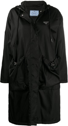 Prada Patch-Pocket Single-Breasted Coat