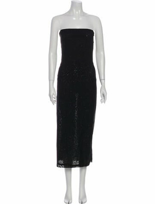 Narciso Rodriguez Strapless Midi Length Dress Black