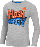 adidas Long-Sleeve Graphic-Print T-Shirt, Little Boys