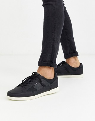 Jack and Jones sneaker with mesh inserts in black