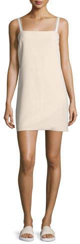 Helmut Lang Sleeveless Ponte Shift Dress, Shell